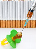 Inoculation nicotine — Stock Photo