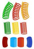 Vector set of spirals — Stock Vector