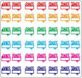 Discount labels. Vector — Stock Vector