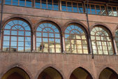 View of Facade in Court of Tribunal, Verona. — Stock Photo