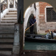 Unusual place for pass in Venice - Stock Photo