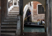 Unusual place for pass in Venice — Stock Photo