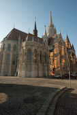 Unusual view of Matthias Church, Budapest. — Stock Photo