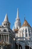Fisherman's Bastion, Buda castle in Budapest, Hungary. — Stock Photo