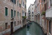 View of canal with gondolas in Venice, Italy. — Stock Photo