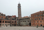 View of San Angelo square and Campanile of San Stefano church. — Foto de Stock