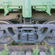 Railway wheels of soviet cargo wagon. — Stock Photo #27065507
