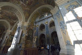 Interior of Jesuits Church in Lvov. — Stock Photo
