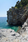 View of the small cove and grotto in rocks. — Stock Photo