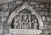 科托尔古城,黑山正门墙雕塑. — 图库照片