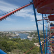 Panoramic view of Sevastopol with ferris wheel's part. — Stock Photo #35276591