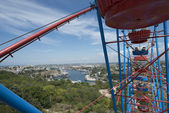 Panoramic view of Sevastopol with the ferris wheel's part. — Stock Photo