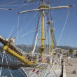 Rigging of old sail training ship Jadrin Tivat, Montenegro. — Stock Photo #35281501
