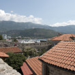 Budvbay behind tile roofs of old town, Montenegro. — Stock Photo #35603297
