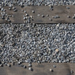 Macadam and railway ties as background. — Stock Photo #40617115