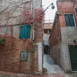 Very small internal court (cortile) in Venice, Italy. — Stock Photo #41388275