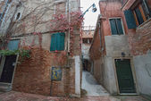 Very small internal court (cortile) in Venice, Italy. — Stock Photo
