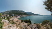Panoramic view of Sutomore bay towards Bar, Montenegro. — Stock Photo