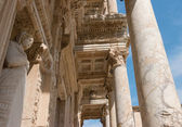 Portico of Celsus Library at ancient ruins in Ephesus, Turkey.  — Stock Photo