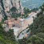 View of Santa Maria de Montserrat Abbey, Barcelona, Catalonia, S — Stock Photo #50904867