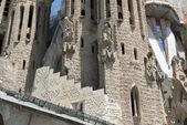 Front part of Sagrada Familia cathedral in Barcelona, Catalonia, — Stock Photo