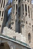 Přední část katedrále sagrada familia v barceloně, katalánsko, — Stock fotografie