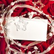 Roses and card holiday background — Foto Stock