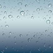 Druppels water. vector — Stockvector