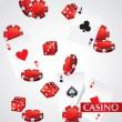 Cards Chips Dice Poker Casino — Stock Photo
