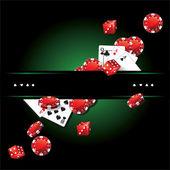 Cards Chips Dice Poker Casino — Foto de Stock