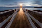 Marshall Point Lighthouse at dusk, Maine, USA — ストック写真