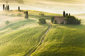 Early morning on countryside, Tuscany, Italy — Stockfoto