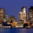 Boston skyline at night, USA — Stock Photo