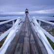 Port Clyde - Marshall Point Lighthouse at sunset, Maine, USA — Stock Photo #19197673