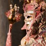 Mask on carnival, Venice, Italy — Stock Photo #19197757
