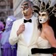 Masks on Venetian carnival, Venice, Italy (2012) — Stock Photo