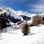 Ski center Arabba, Dolomites, Italy — Stock Photo