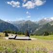 Sunny day in Alps, Carinthia, Austria — Stock Photo