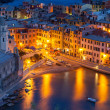 Vernazza at night, Cinque Terre, Italy — Stock Photo