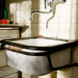 Stock Photo: Old washbasin