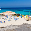 Tarida beach, ibiza, Spanien — Stockfoto