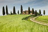 Farmhouse in Tuscany near Pienza, Italy — Stock Photo