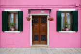 Colorful house in Burano island, Venice, Italy — Stock Photo