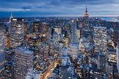 Manhattan from Rockefeller Center, New York, USA — Stock Photo