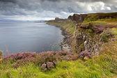 Cliffs near Kilt rock waterfall, Isle Of Skye, Scotland, UK — Stock Photo