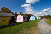Domki motel w maine, stany zjednoczone ameryki — Zdjęcie stockowe