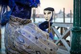 Máscara de carnaval veneciano, italia — Foto de Stock
