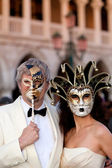 Carnival masks in Venice, Italy — Stock Photo