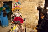 Máscaras de carnaval veneciano, venecia, italia (2012) — Foto de Stock