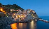 Manarola at twilight, Cinque Terre, Italy — Stock Photo